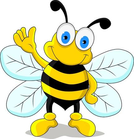 funny bee cartoon character