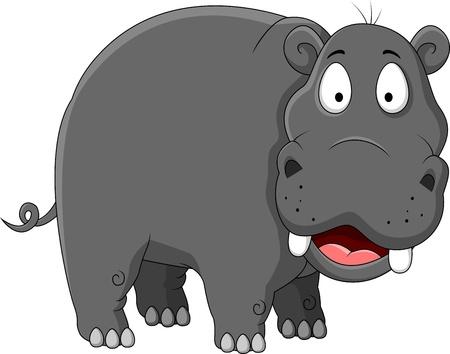 Ilustración de hippopotamus cartoon - Imagen libre de derechos