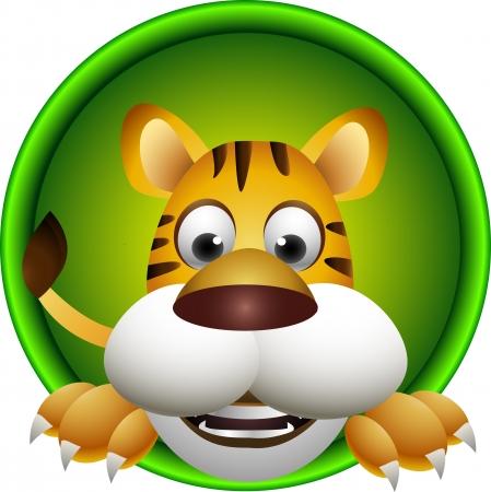Ilustración de cute tiger haed - Imagen libre de derechos