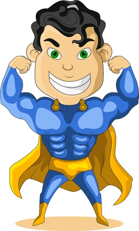 strong blue hero