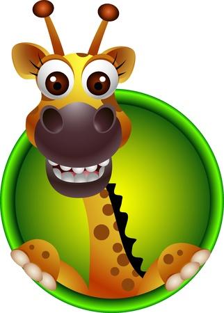 Illustration for cute giraffe head cartoon - Royalty Free Image
