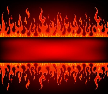 Fire stripe with free space for text