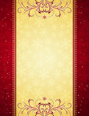 Illustration for red christmas background, vector illustration - Royalty Free Image
