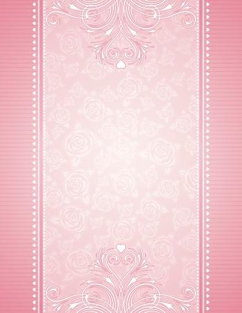 Illustration pour pink background with roses, vector illustration - image libre de droit