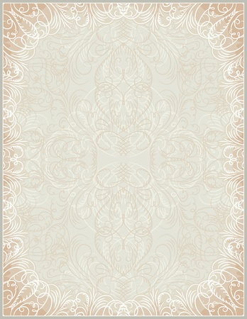 beige certificate background with calligraphic lines, vector