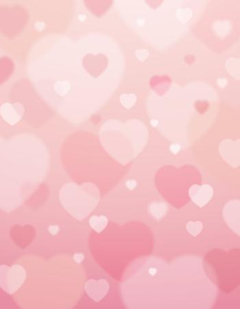 Ilustración de pink background with  valentine hearts ,  vector illustration - Imagen libre de derechos