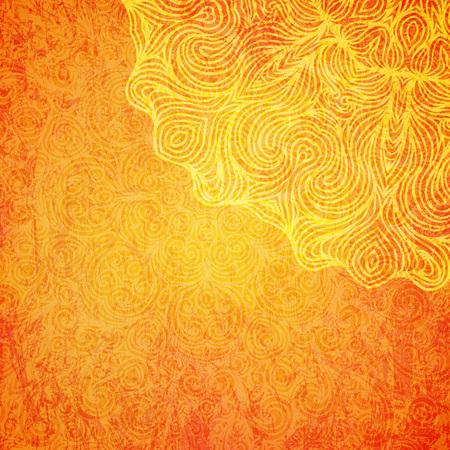 Illustration pour Elegant shiny Indian background with mandala. Vector illustration. - image libre de droit