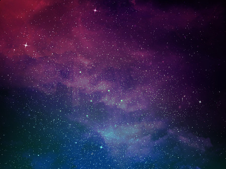 Photo for Universe filled with stars, nebula and galaxy - Royalty Free Image