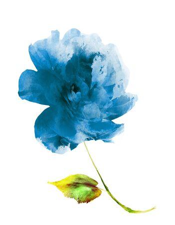 Foto de Watercolor flower , isolated on white background - Imagen libre de derechos