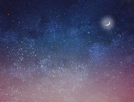 Photo for Night sky with stars as background. Universe - Royalty Free Image