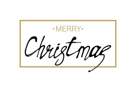 Illustration pour Greeting card. Merry Christmas. - image libre de droit