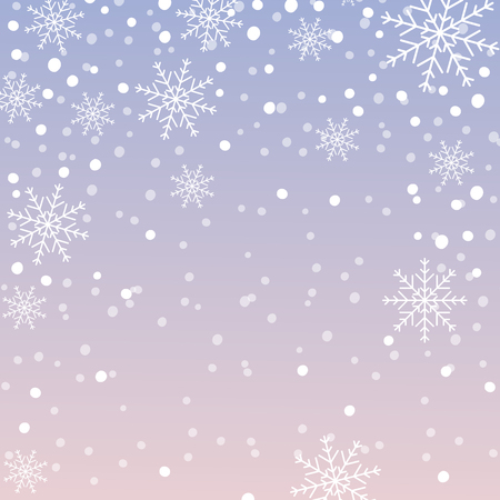 Illustration for Snowflake pattern, Christmas background with falling snowflakes. Vector illustration. - Royalty Free Image