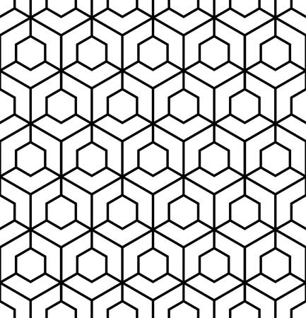 Vector modern seamless sacred geometry pattern grid, black
