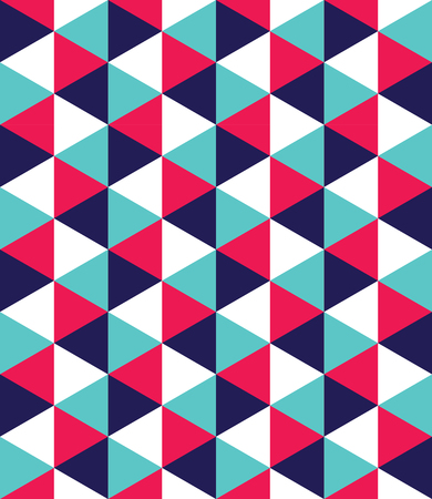 Foto de Vector modern seamless colorful geometry triangle pattern, color abstract geometric background, pillow multicolored print, retro texture, hipster fashion design - Imagen libre de derechos