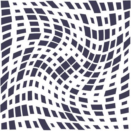 Illustration pour square trippy seamless pattern, minimal geometric background print texture - image libre de droit