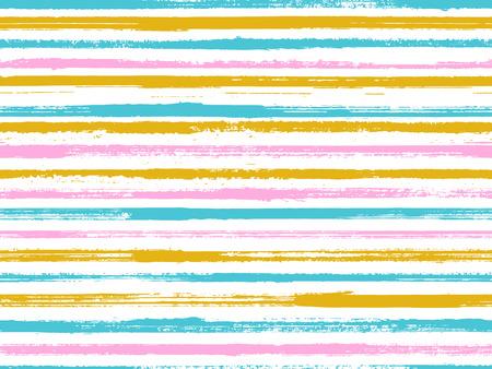 Illustration pour Grunge stripes seamless vector background pattern. Unique minimalist design. Dry paintbrush stripes grunge backdrop print design. Dry ink art lines background. Lines art tablecloth pattern. - image libre de droit
