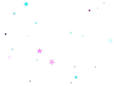 Ilustración de Flying stars confetti holiday vector in cyan blue violet on white. Chaotic holiday decor backdrop. Party stars pattern graphic design. Twinkle starburst astral wallpaper. - Imagen libre de derechos