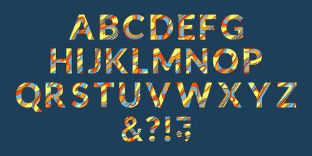 3d origami alphabet stock illustration. Illustration of typography ... | 225x450