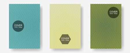 Abstract shapes of multiple lines halftone patterns. Minimal booklets. Halftone lines annual report templates. Presentation backdrops. Cool abstract shapes gradient texture backgrounds.