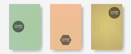 Halftone gradient texture vector cover layouts. Dynamic retro fashion. Halftone lines annual report templates. Corporate catalogs. Multiple lines cool gradient texture backgrounds.