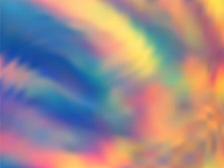 Photo pour Holographic gradient neon vector illustration. Elegant neon party graphics background. Liquid colors neon background. Vivid gradient neon holographic backdrop shimmer print. - image libre de droit