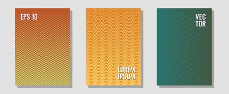 Abstract shapes of multiple lines halftone patterns. Digital collection. Zigzag halftone lines wave stripes backdrops. Elegant patchy mockups. Cool abstract shapes gradient texture backgrounds.