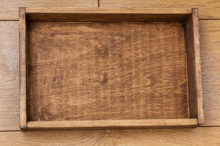 Photo for empty wood box top view - Royalty Free Image