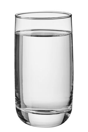 Photo pour Glass of water isolated on white background. Front view. - image libre de droit