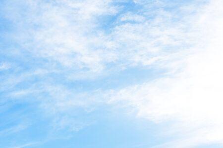 Foto de Blue sky background with green fields. - Imagen libre de derechos