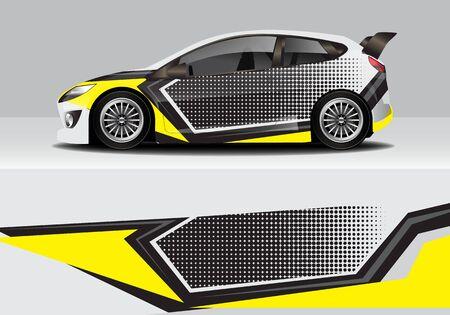 Ilustración de car wrap with modern abstract background vector design - Imagen libre de derechos