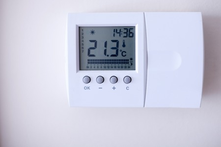 Smart house panel controlling the temperature in the house