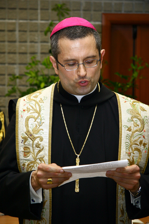 CASSINO, FR, ITALY - 20 FEBRUARY, 2008: Pietro Vittorelli, former abbot of the Abbey of Montecassino, at the inauguration of the academic year 2008 at the University of Cassino.