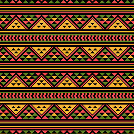 Illustration pour Traditional African pattern. This is a simple vector illustration with harmonious blend of retro and modern styles. The color can be changed if needed. - image libre de droit