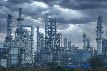 Foto für Petrochemical industry on sunset and Twilight sky, Power plant, Energy power station area. - Lizenzfreies Bild