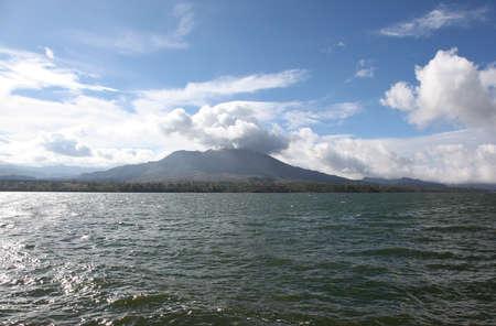 dormant volcano on the lake, Ubud, Bali, Indonesia