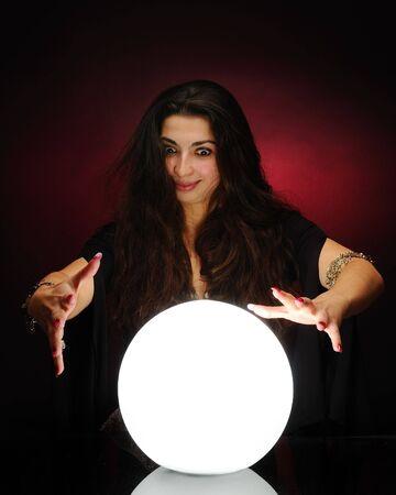 Photo pour Fortuneteller at work - image libre de droit