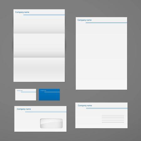 Foto de Vector corporate identity template set. - Imagen libre de derechos