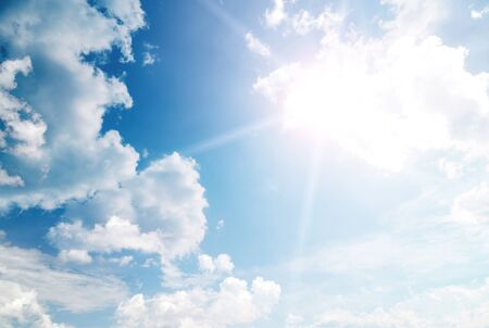 Heaven sky with sun