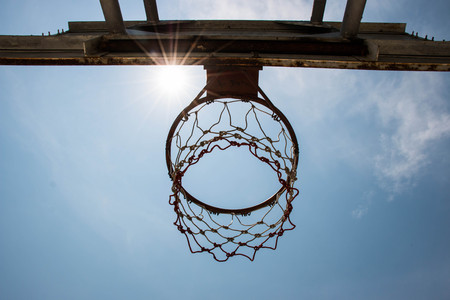 Basketball goal and net