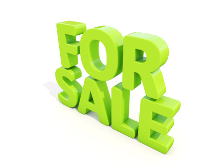 For sale icon on a white background. 3D illustration