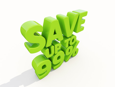 The phrase Save up to 99% on %u0430 white