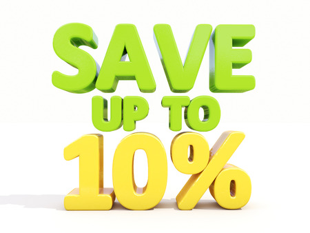 The phrase Save up to 10% on %u0430 white