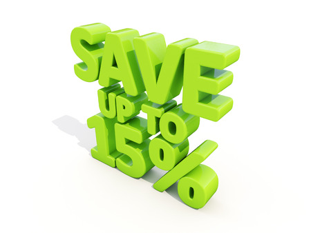 The phrase Save up to 15% on %u0430 white