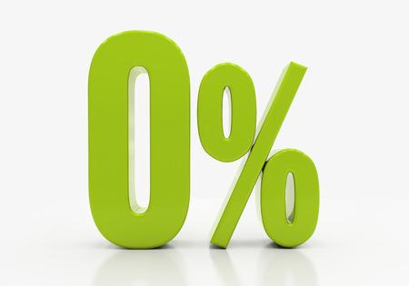 0 Percent off Discount. 3D illustration