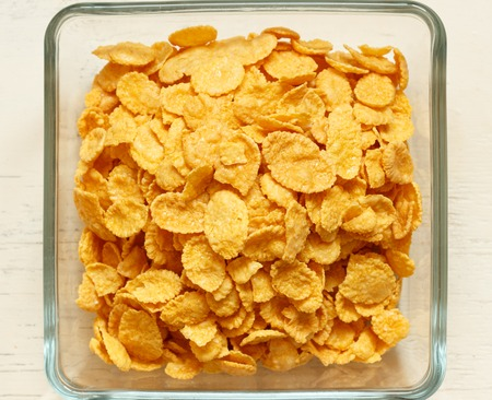 heap of cornflakes on plate