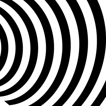 Abstract vector background of waves, optical illusion, black and white line art, wave icon, optical art background, wave design, abstract lines, modern striped background, zebra stripes.