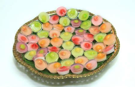 Thai dessert,sweet colorful appetizing.