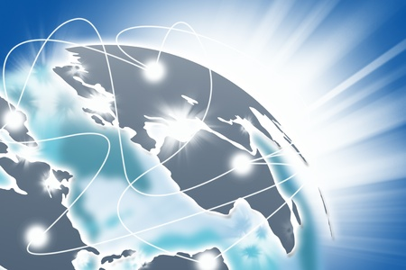 Photo pour Internet Concept of global business. - image libre de droit