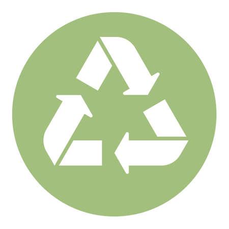 Ilustración de Green recycle icon minimal clean symbol design. - Imagen libre de derechos