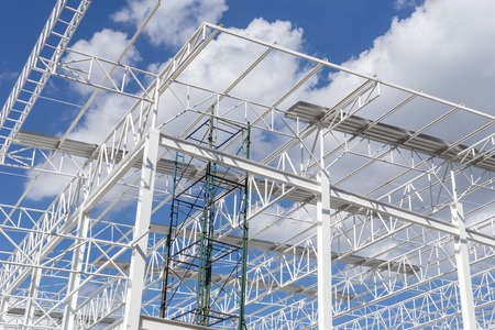 Photo for Steel Structure with Blue Sky Background - Royalty Free Image